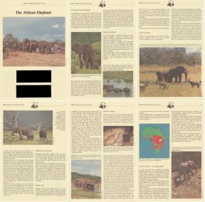 Uganda WWF African Elephant Info Pages SG#406-409 MI#361-364 SC#371-374 CV£10+