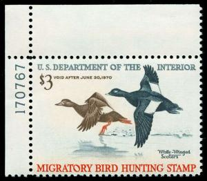momen: US Stamps #RW36 Duck Mint OG NH XF