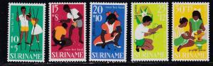 Suriname, # B132-136, Childrens Games, NH, Half Cat.