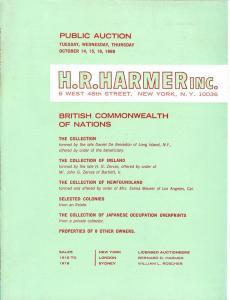 HR Harmer: Sale # 1916-1918  -  British Commonwealth of N...