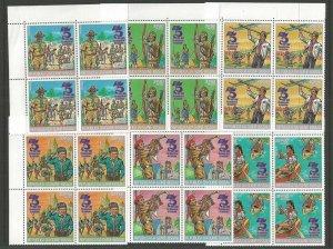 1982 Guinea-Bissau Scouts 75th anniversary blocks