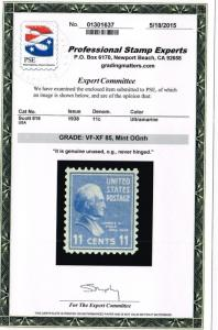 ESTATE CLOSEOUT SCOTT #816 MINT OG NH PSE GRADED FOR LESS THAN COST OF THE CERT