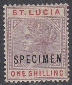St. Lucia 37a MH Specimen Overprint CV $150.00