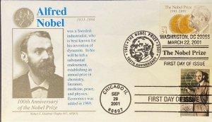 Graebner Chapter AFDCS 3504 3533 The Alfred Nobel Prize w/ Enrico Fermi Stamp
