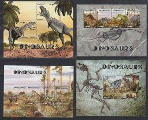 Ghana 2014 dinosaurs prehistoric fauna 2klb+2s/s MNH