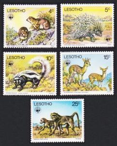 Lesotho WWF Endangered species 5v SG#329-333 MI#228-232 SC#228-232