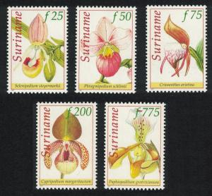 Suriname Orchids 5v issue 1997 SG#1720-1724