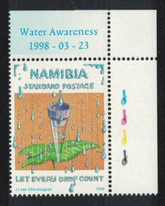 Namibia World Water Day 1v Corner SG#788
