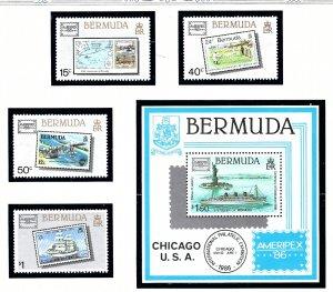 Bermuda 504-08 MNH 1986 Ameripex    (ap1483)