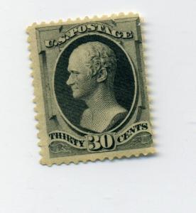 Scott #165 Hamilton Unused Stamp with PSAG Cert (Stock #165-psag)