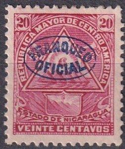 Nicaragua #O124  F-VF Unused  CV $6.00 (Z1912)