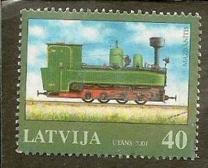 Latvia   Scott 527   Locomotive     Used