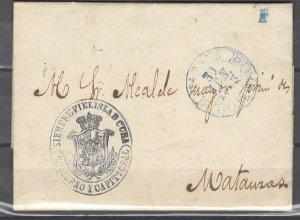 COLLECTION LOT # 2480 CUBA PRESTAMPED ENVELOPPE WITH LETTER 1823