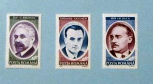 Romania - 3759-61, MNH Comp. Famous People. SCV - $1.00