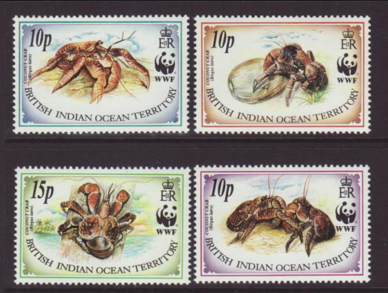 British Indian Ocean Territory 132-135 Coconut Crabs MNH VF