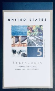Canada #1952 65¢ Tourist Attractions Booklet (2002). BK259 5 stamps.MNH