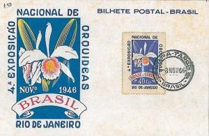 FLOWERS: ORCHIDS - MAXIMUM CARD - BRAZIL 1946