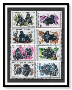 Rwanda #359-372 Various Gorillas Set MNH