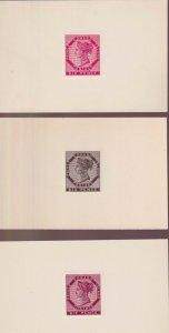 Prince Edward Island Sc #7DP (c. 1940s) Private Reprint Die Proof Set VF