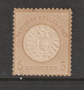 Germany a MH 5gr large shield Eagle from 1872 MH
