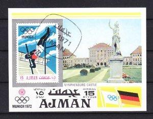 Ajman, Mi cat. 746, BL247. Olympic Pole Vaulting s/sheet. Canceled. ^