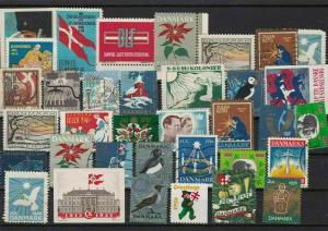 denmark vintage christmas  stamps ref 13395