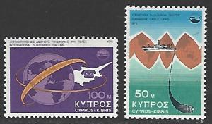 Cyprus #442-443 MNH Set of 2