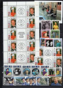 SOLOMON ISLANDS 1985-1992 ROYALTY SET OF 23 STAMPS, SHEET OF 10 STAMPS & S/S MNH