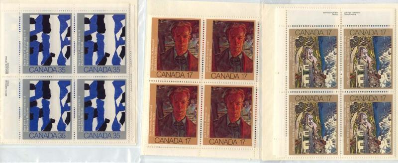 Canada USC #887-889 Mint MS of Imprint Blocks VF-NH Art - Face Alone $11.04