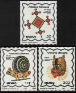MEXICO 1267-1269 Arts and Crafts MNH