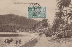 Guadeloupe 5c Harbor at Basse-Terre 1912 Pointe A Pitre, Guadeloupe PPC (Guad...