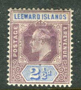 LEEWARD ISLANDS; 1902 early Ed VII issue fine Mint hinged 2.5d. value