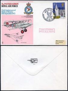 RAF6a No.29(F) Squadron Standard Cover 3p Church Stamp