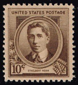 US STAMP #883 – 1940 Famous Americans: 10c Ethelbert Nevin MNH/OG SUPERB