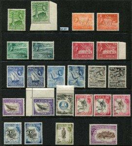 Aden Stamps, 1953-63, Partial Set of 24 VLMM Aden Stamps SG48-72 Incl SG66b