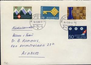 SUISSE / SWITZERLAND / SCHWEIZ 1968 Mi.870/3 Special Issues set on FDC (a)