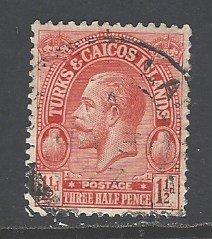 Turks & Caicos Sc # 47 used (RS)