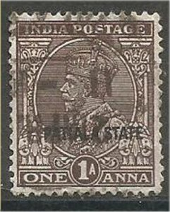 PATIALA, 1928, used 1a,  Overprinted  Scott 63