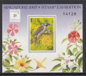 Fiji 787 Bird Souvenir Sheet MNH VF