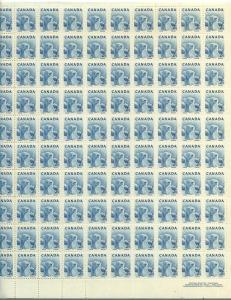Canada - 1953 2c Blue Polar Bear Plate Sheet of 100 #322 Mint F-VF-NH