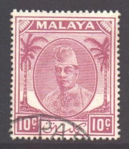 Malaya Kelantan Scott 56 - SG69, 1951 Sultan 10c used
