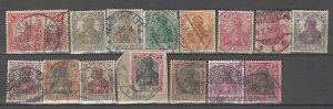 COLLECTION LOT # 4296 GERMANY 15 STAMPS 1900+ CV+$22