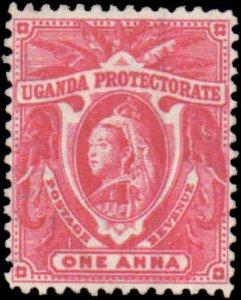 Uganda #70, Incomplete Set, 1902, Hinged