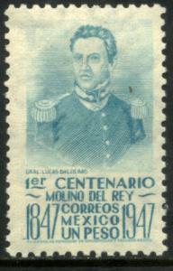 MEXICO 835, $1P 1847 Battles Centennial. UNUSED, H OG. VF.