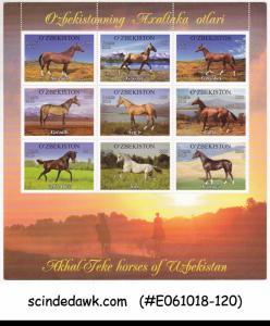 UZBEKISTAN - 2012 HORSE / HORSES / ANIMALS - MINIATURE SHEET MNH