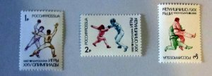Russia- 6084-86, MNH Set. Barcelona Olympics. SCV - $1.05