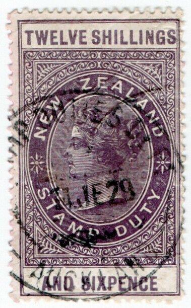 (I.B) New Zealand Revenue : Stamp Duty 12/6d