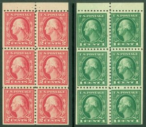 EDW1949SELL : USA 1916 Sc #462a, 463a Mint OG. Very minor back faults. Cat $119.