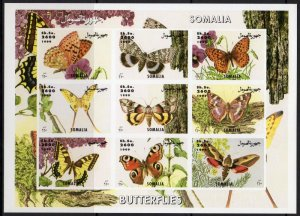 Somalia 1999 BUTTERFLIES Sheet (9) Perforated Mint (NH)