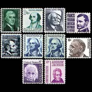 U.S.A. 1965 - Scott# 1278-86 Prominent Americans 1-10c NH